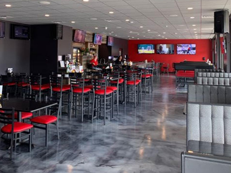 interior picture of The Rush bar and grill